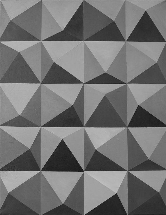 Geometric triangles. Optical art monochrome. by TanabeStudio