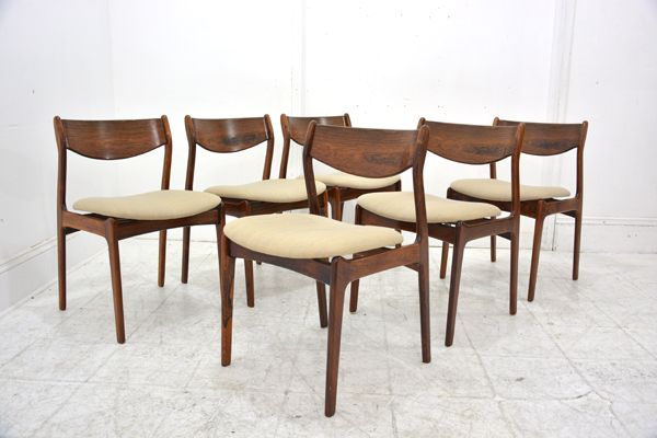 Rio-rosewood framed set dining chairs by FARSØ  £2400