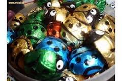 mariquitas de chocolate