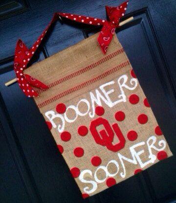 University of Oklahoma BOOMER SOONER Schooner by ELouiseBoutique, $23.00