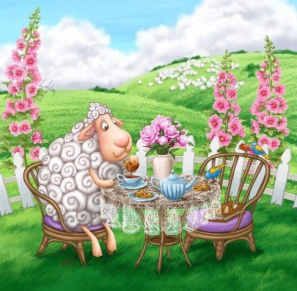 Картинки, открытки с овечкой