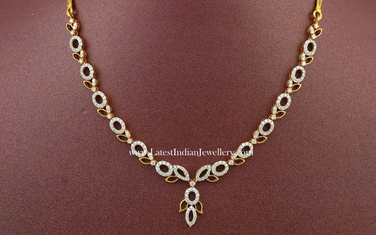 Fancy Indian Diamond Necklace Designs