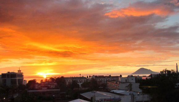 Sunset over Manado, Sulawesi