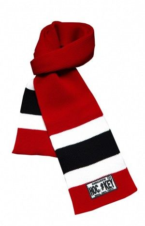 GONGSHOW SCARF - Hockey Scarves made from hockey sock! Great stocking stuffer in your favorite team colours. GONGSHOW