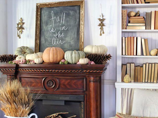 Beautiful Fall Mantel Fall Decor Ideas For The Home Via