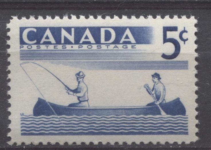 Canada #365 5c Blue 1957 Fishing VF75/80 NH