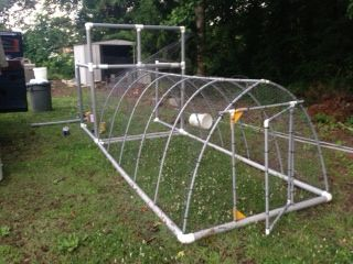 17 best images about chicken tractor inspiration on for Pvc chicken tractor plans