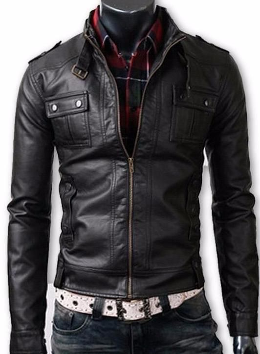 Mens Fitted Cabone Leather Jacket #Men'sFitness