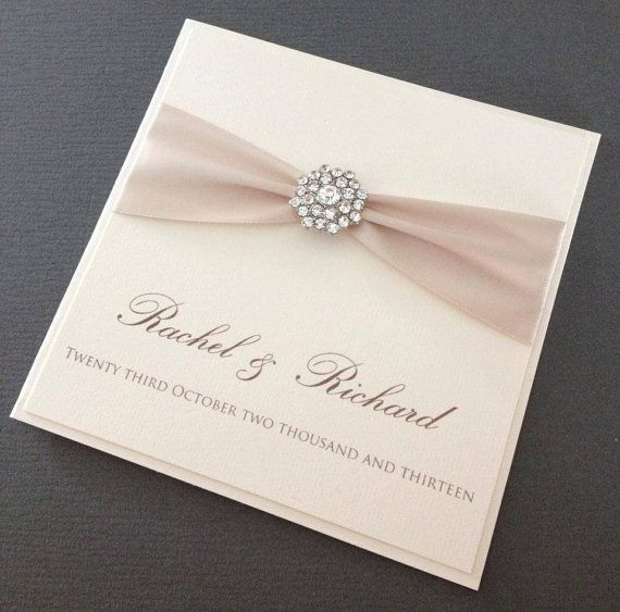 Gorgeous Luxury collection wedding invitation by ChosenTouches, £3.50