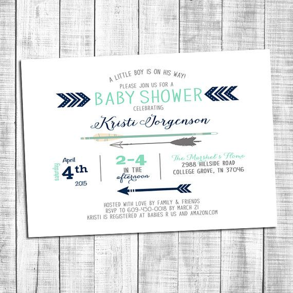 Blue and Mint baby boy shower invitations _112 by Silvergaze