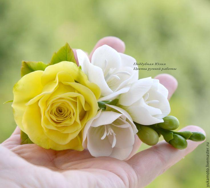 Купить Ноктюрн (зажим) - подарок, свадебное украшение, заколка с цветами, украшение на выпускной, 8 марта