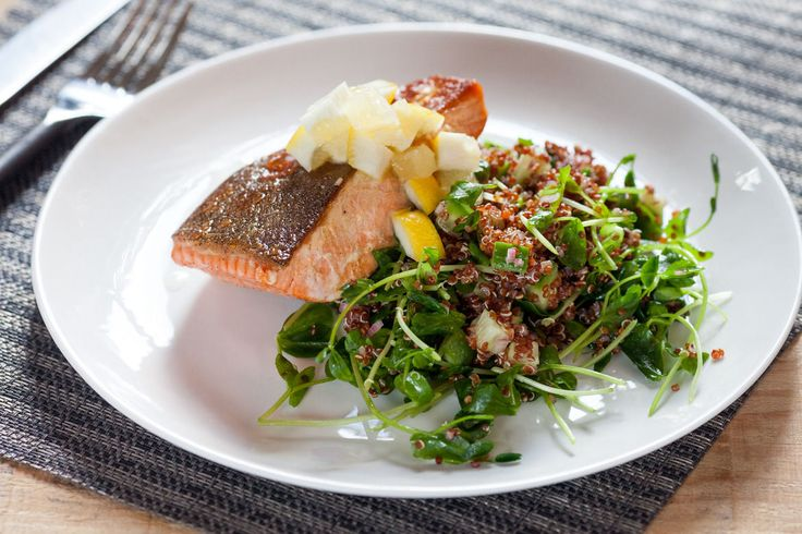 Seared Salmon with Preserved Lemon & Quinoa