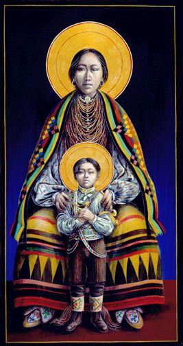 Seminole Madonna and Child by John Giuliani