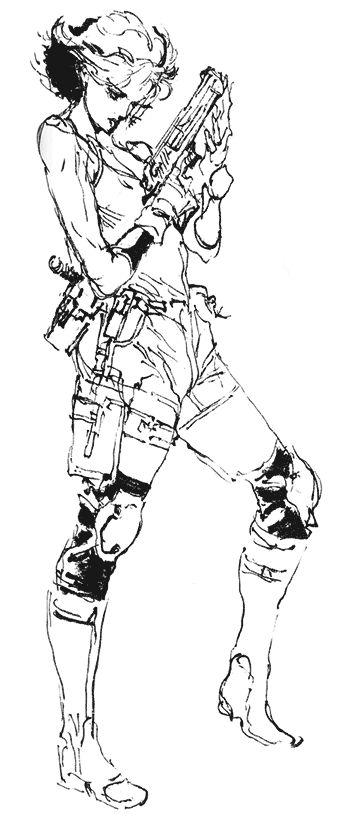 Meryl Sketch, Metal Gear Solid 1