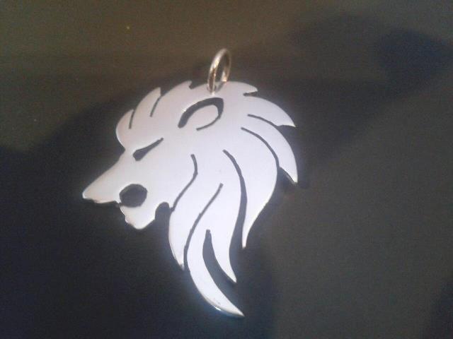 sterling silver lion head pendant . 25mm x 20mm handmade 925, £26.99