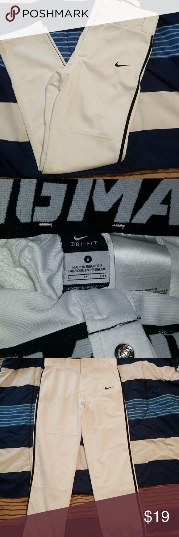 Nike baseball pant Boys white and black baseball pant. Size small. Nike Other