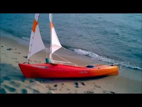 DIY sailing rig for sit in kayak- no drilling or holes in the kayak