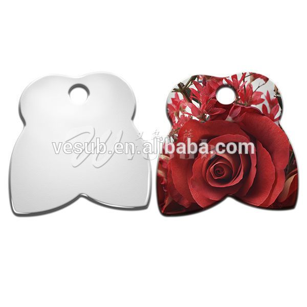 Vesub Personalized Photo Printable Sublimation Blank Coated cheap dog tags
