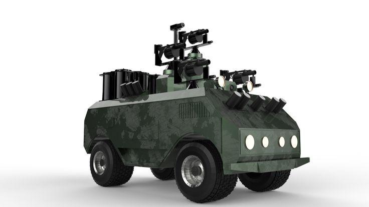 Obj Military Robot Gun - 3D Model