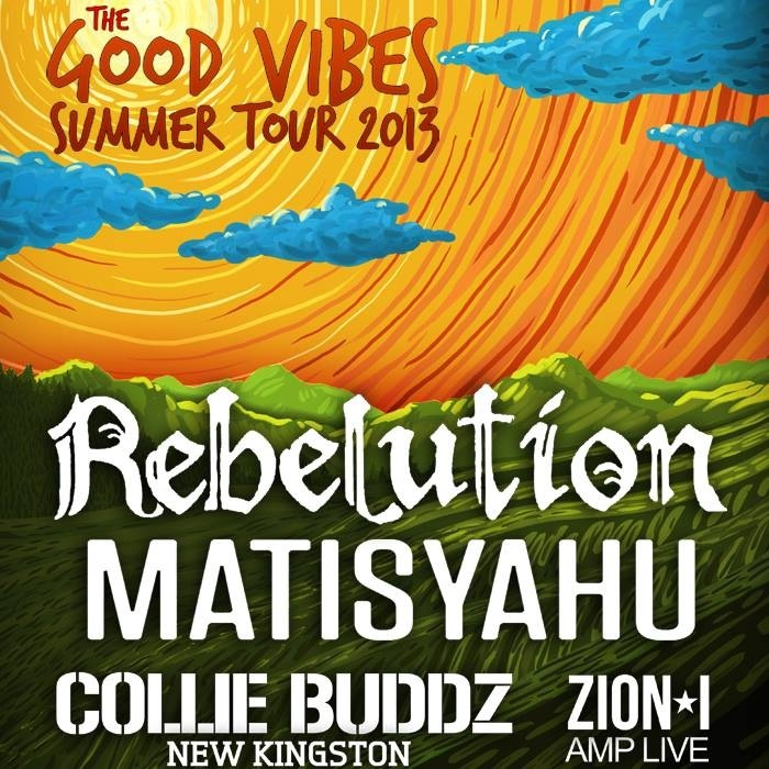 The Good Vibes Summer Tour 2013 with Rebelution, Matisyahu, Collie Buddz and Zion I! #reggae #rock