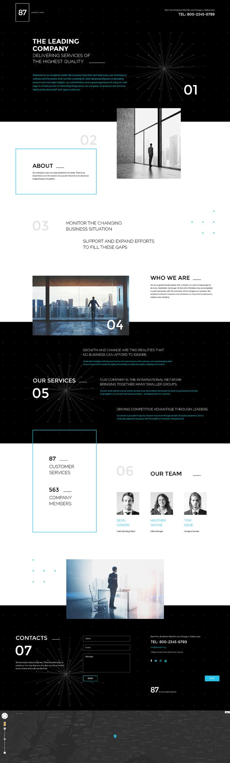 Business Responsive Landing Page Template #57785