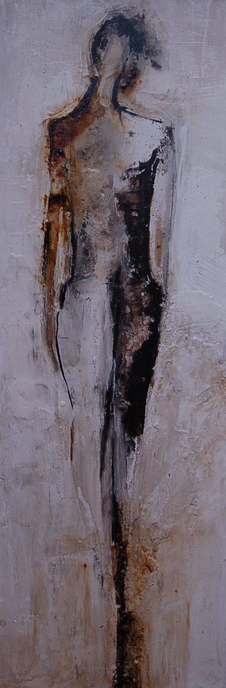 """Felice Sharp """"Expression"""" 36x12 Mixed on Canvas [SOLD]"""