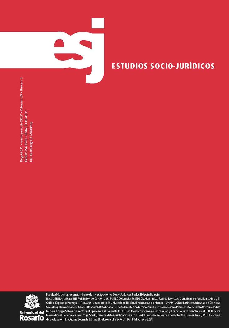 Estudios Socio-Jurídicos Vol. 19, Núm. 1 (2017)