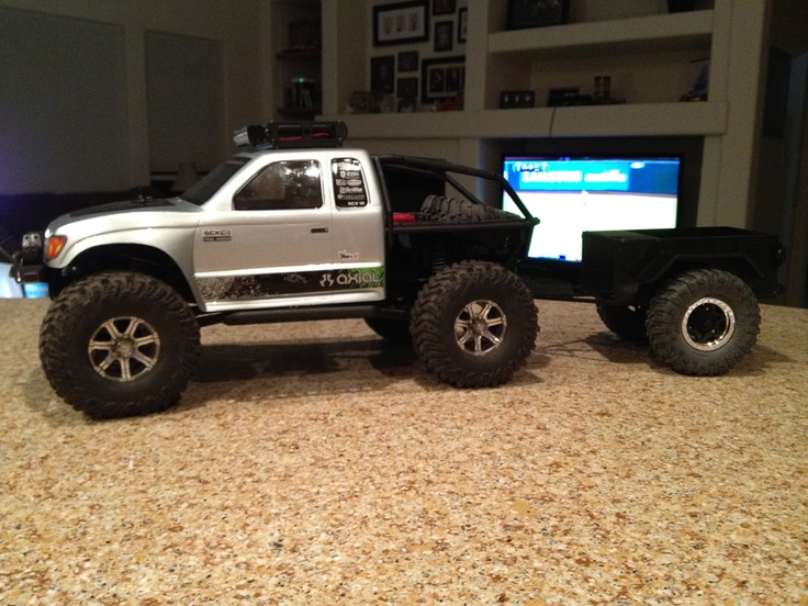 Axial Honcho With A Dinky Rc Trailer Rc Crawlers