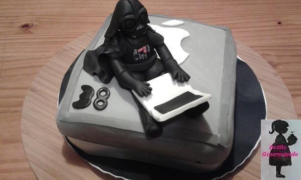 Tarta Darth Vader informático friki