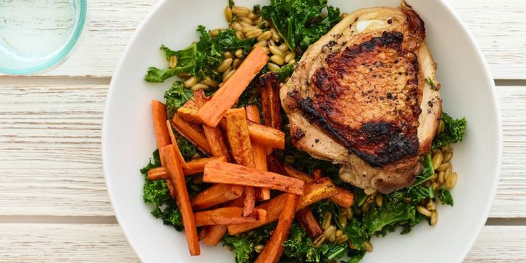 Cinnamon Chicken and Carrots With Kale and Kamut