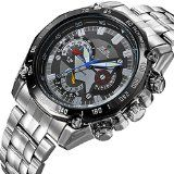 Mudder Quartz Men Watch Analoge Display Fashion Luminous Hand Watches With Stainless Steel Band- http://www.siboom.co.uk/compare-prices-compare-prices-jewellery-watches_c109814.html.html?catt=compare-prices-jewellery-watches&k=Fashion+men+watches&ppa=4 3 small decoration dials  Silver stainless steel band  Japan quartz movement  A fashion gift for you and your friends  Features 100 WEIDE Brand new never used high quality Modern sporty design environmental IPS electrop