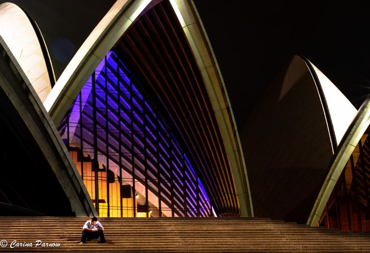 Opera house in Sydney during the night. If you like go through my facebook page there are some more picture. Carina Parnow Photography