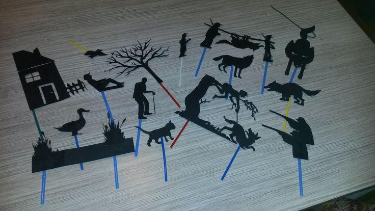 """Schimmenspel """"Peter en de wolf"""""""