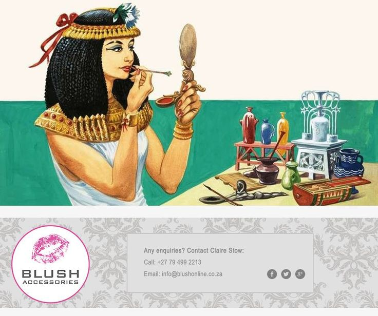 The use of make-up dates back as far as 4000 BC, where Ancient Egyptians applied dark green colour to the under lid of their eyes and blackened their lashes and upper lid with kohl. #TBT #Blush #makeup