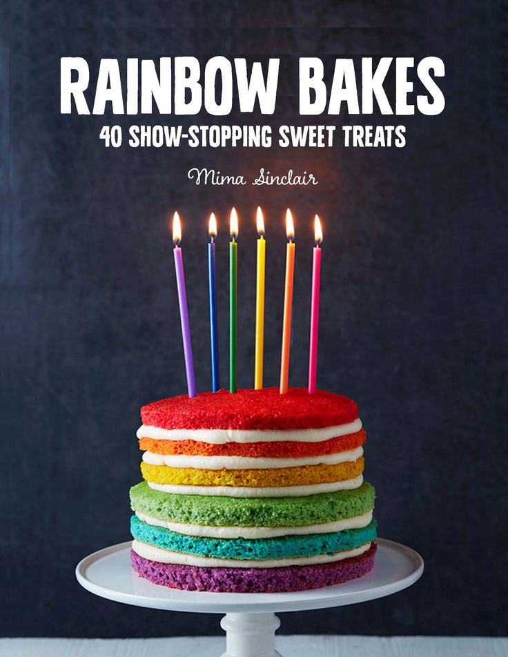 Photo Danielle Wood naked rainbow cake Mima Sinclair