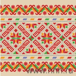 Bashkir (Ethnic group in Russia) traditional folk embroidery ornament