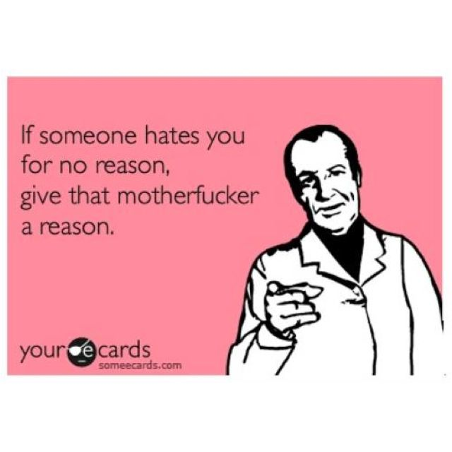 I love blunt cards :)