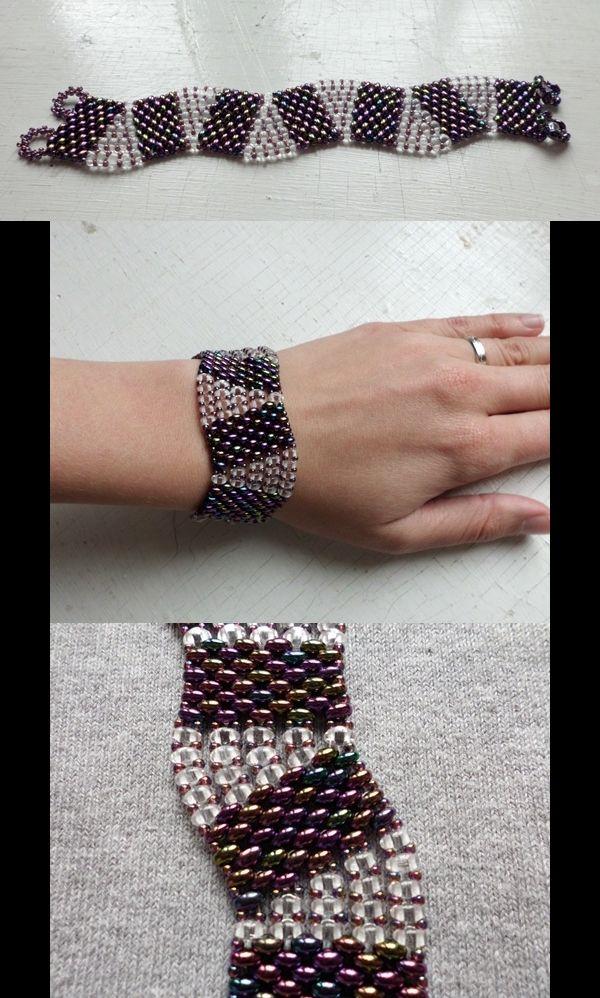 wavy twin or Superduo bracelet by Tangeled