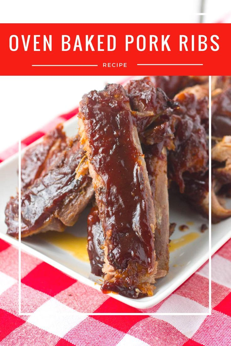Oven Baked Pork Ribs: These Oven Baked Pork Ribs are easy and delicious. They will fall off the bone once you take them out of the oven. Try this easy rib recipe for dinner today!