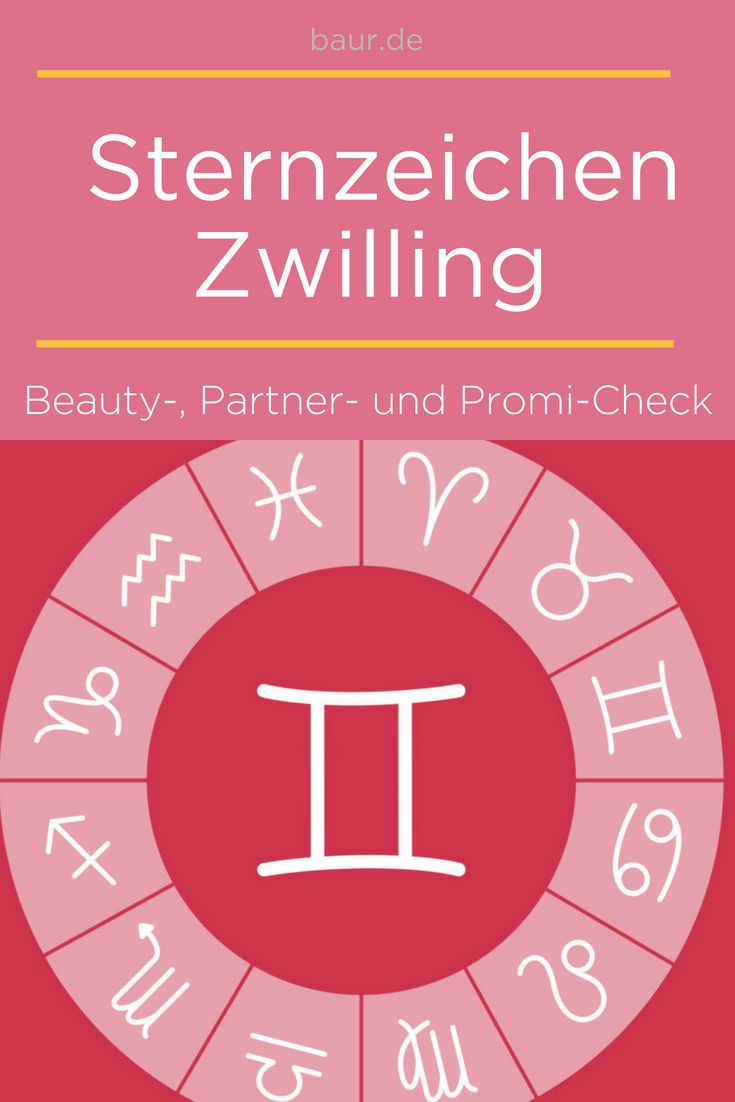 Horoskop zwilling mann single