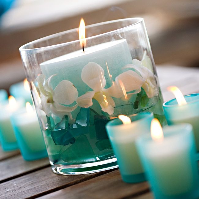 212 best images about turquoise wedding on pinterest for Decoration de table bleu turquoise