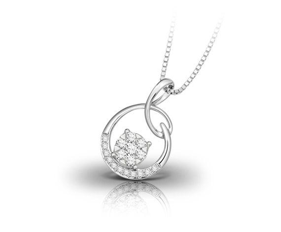White gold with diamonds