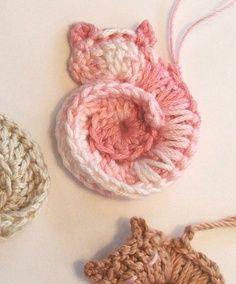 Animal Crochet PATTERN - Darling Kitty - CROCHET PATTERN for Tiny Cat Ornamentâ?¦