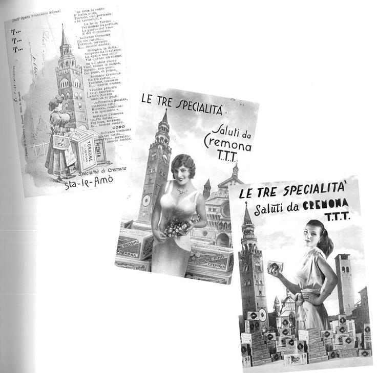 Le celeberrime 3T di Cremona: Touròon (il torrone), Touràss (il celebre campanile del Duomo) e Tetàss (i seni fiorenti delle donne) .