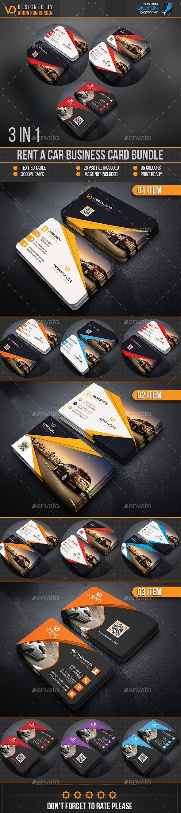 Rent A Car Business Card Bundle Templates PSD. Download here: http://graphicriver.net/item/rent-a-car-business-card-bundle/16663546?ref=ksioks