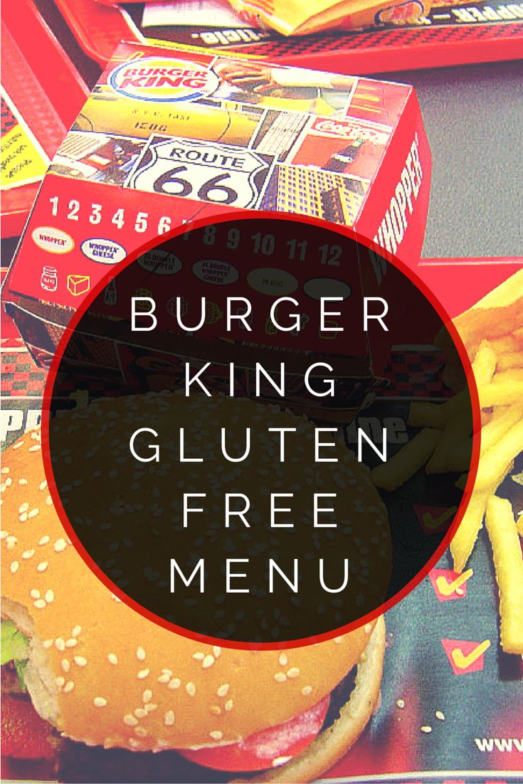 Burger King Gluten Free Menu #glutenfree