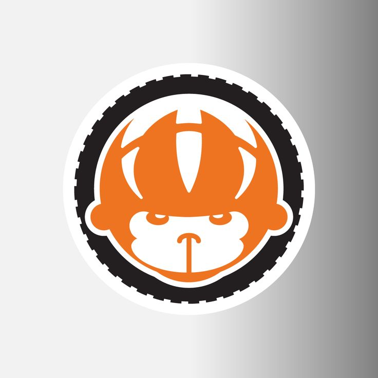 "Spider Monkey Cycling 3.5"" Logo Decal"