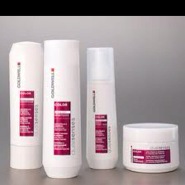 luv Goldwell hair color products at salons and the shampoo & conditioner for color treated hair
