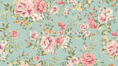 klassische Tapeten Vintage Blumen Hintergrundmuster