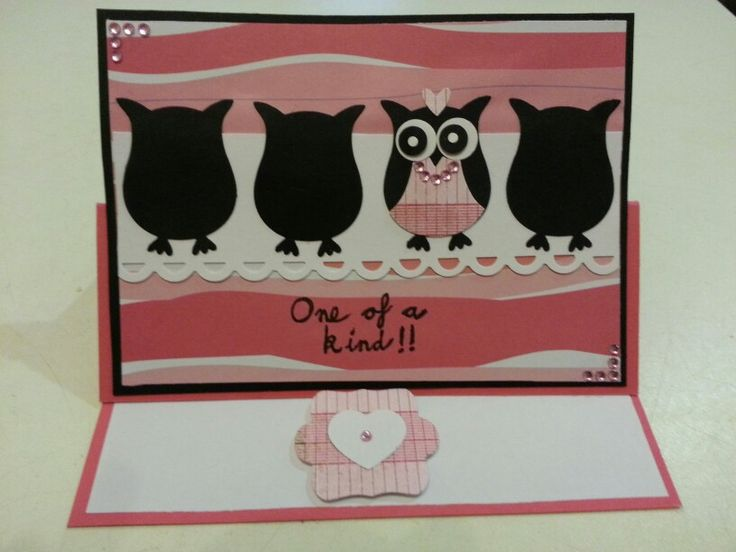 Stampin Up  Owl Punch Easel Card